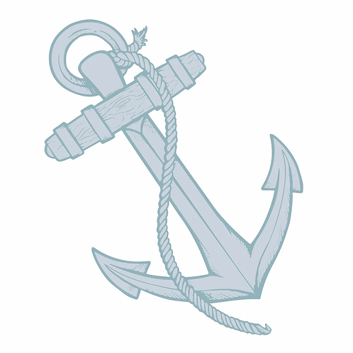 Couture Creations® Seaside Girl - Anchor Mini Stamp and Die Set (2pc)