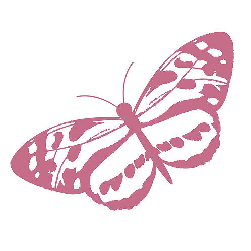 Couture Creations Mini Stamp - Spotted Butterfly