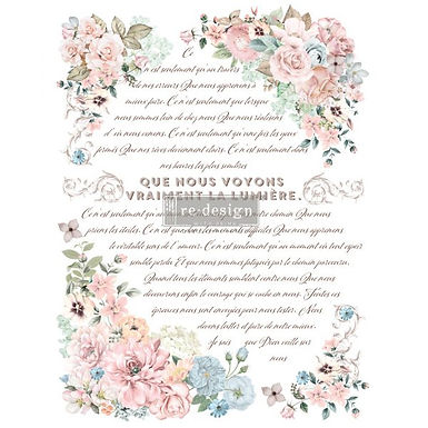 Redesign Décor Transfers® – Pure Light Floral size 24″x 34″