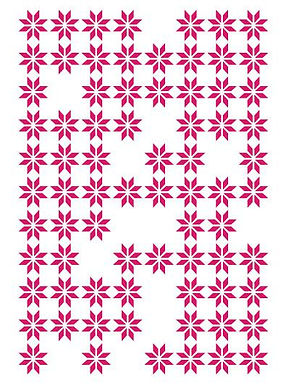 Couture Creations Embossing Folder - Random Daisies