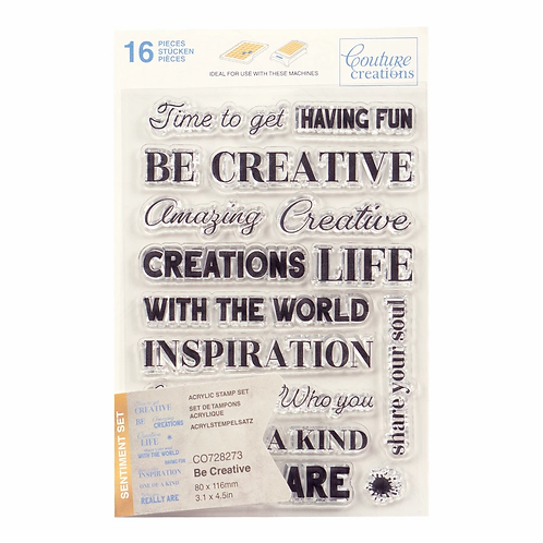 Couture Creations® Stamp Set - Be Creative Sentiment (16pc)