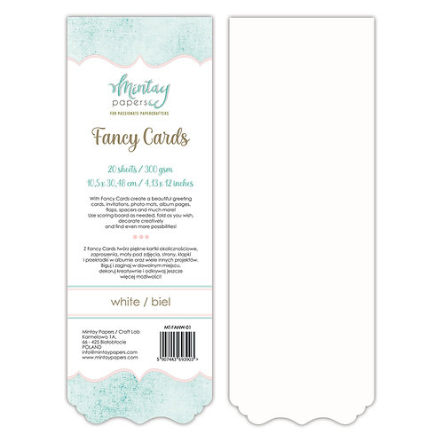 Fancy Cards - White - by Mintay Papers