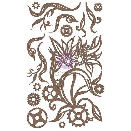 Finnabair Decorative Chipboard - Steampunk Blooms