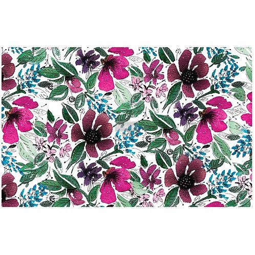"""Redesign by Prima® Découpage Décor Tissue Paper - Watercolor Flora - (19"""" x 30"""")"""