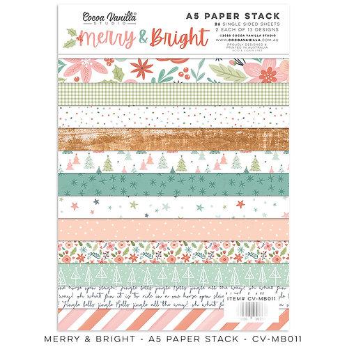 Cocoa Vanilla® Merry & Bright A5 Paper Stack