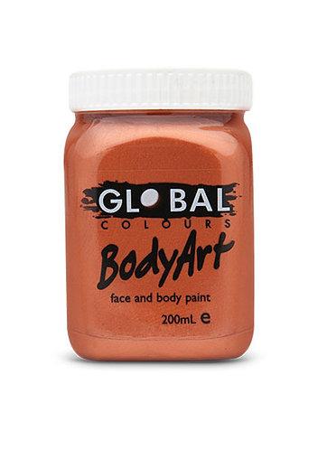 Global Bodyart Paint - Metallic Copper - 200ml