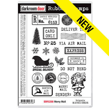 Darkroom Door Rubber Stamps - Merry Mail