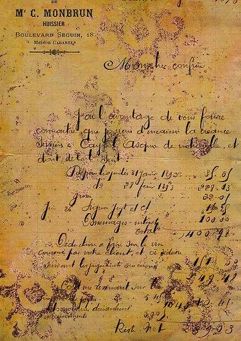 Decoupage Queen® Decoupage Paper - Antique French Letter