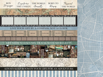 Kaisercraft® Explorer 12x12 Scrapbook Paper - District