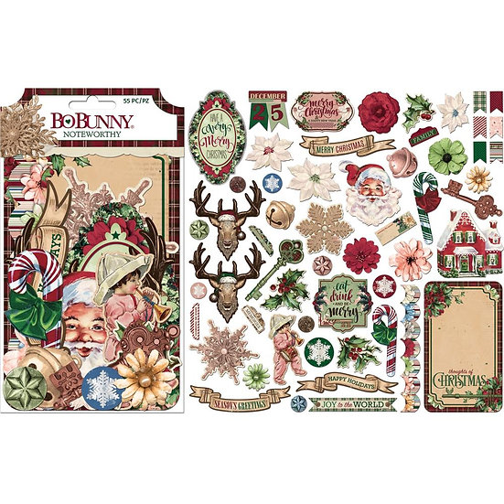 Bo Bunny® Noteworthy Ephemera - Christmas Treasures