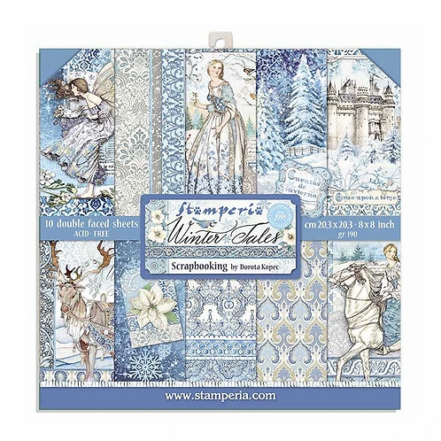 Stamperia® 8 x 8 Paper Pad - Winter Tales