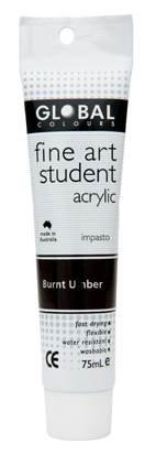 Global fine art student acrylic 75ml - Burnt Umber