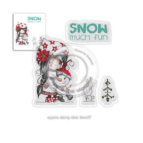 Polkadoodles® Winnie Snow Much Fun Stamp Set