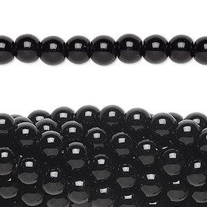 Black Obsidian Beads - 6mm