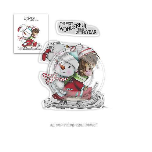 Polkadoodles® Winnie Wonderful Time of the Year stamp set
