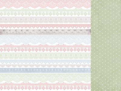 Kaisercraft® Flower Shoppe 12x12 Scrapbook Paper - Tea Time