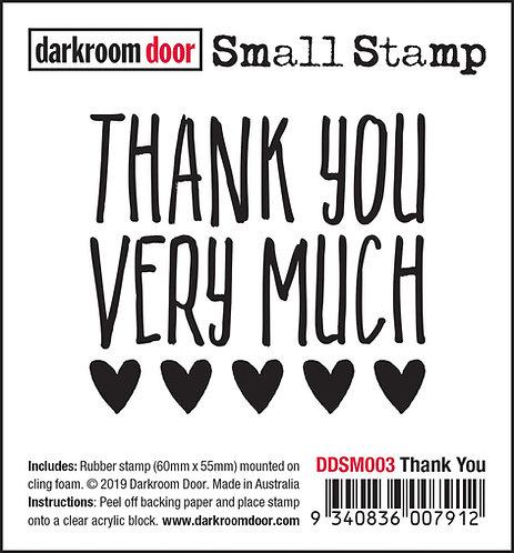 Darkroom Door Small Stamp - Thank you