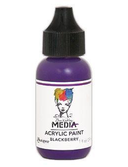 Dina Wakley® Media Acrylic Paint 1oz - Blackberry