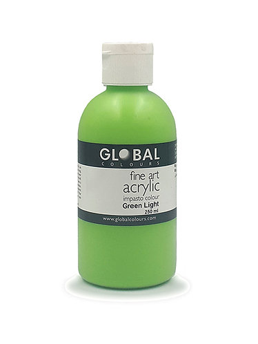 Global Artist Acrylic - Green Light - 250ml