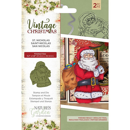 Nature's Garden Vintage Christmas Stamps & Dies by Crafter's Companion