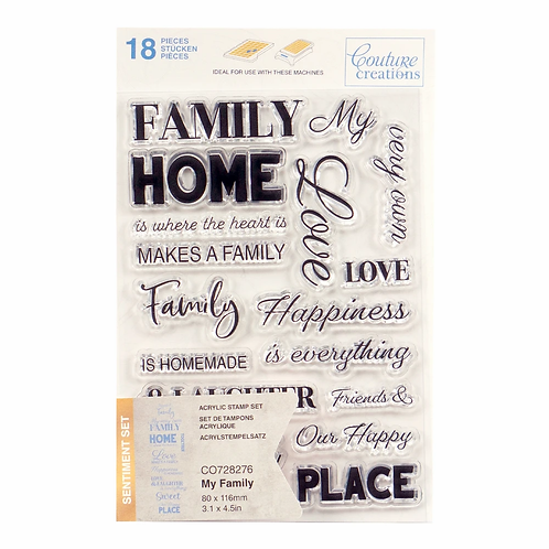 Couture Creations® Stamp Set - My Family Sentiment (18pc)