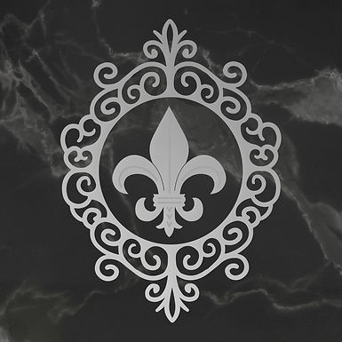 Couture Creations Die - Framed Fleur De Lis 2pc Set