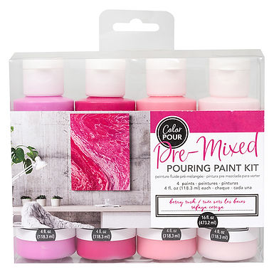 American Crafts Color Pour Kit - Berry Rush