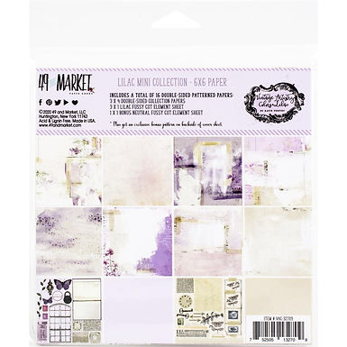 49 and Market® Vintage Artistry Mini Collection - Lilac 6 x 6