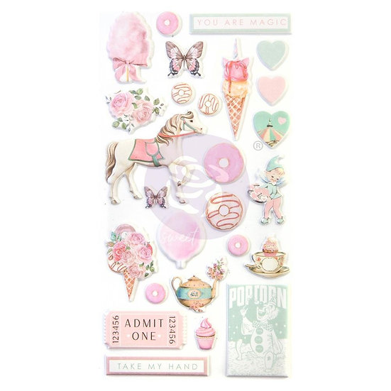Dulce Puffy Stickers by Prima®