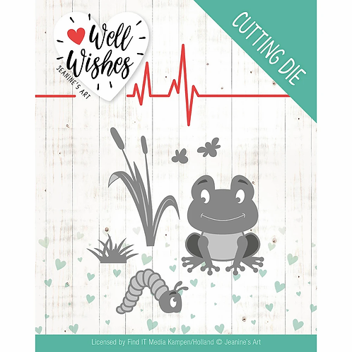 Jeanine's Art - Well Wishes - Smiling Frog - Dies