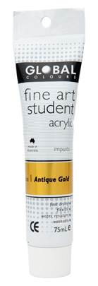 Global fine art student acrylic 75ml - Antique Gold