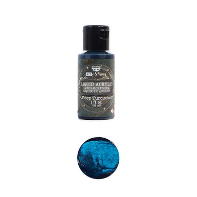 Art Alchemy – Liquid Acrylics – Deep Turquoise –  30ml