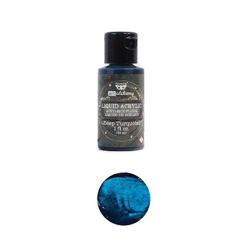 Art Alchemy – Liquid Acrylics – Deep Turquoise –  30ml
