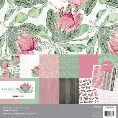 Kaisercraft® Flowering Natives Paper Pack with Bonus Sticker Sheet