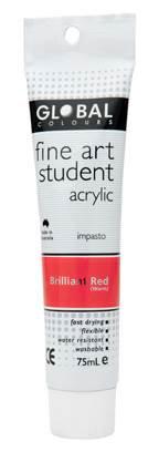 Global fine art student acrylic 75ml - Brilliant Red