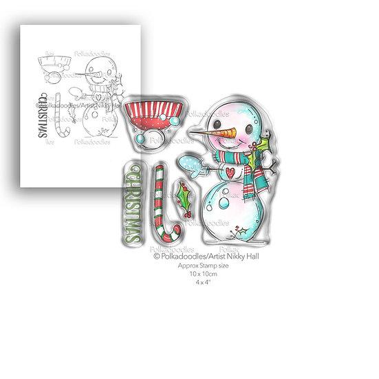 Polkadoodles® Smiley Snowman Stamp