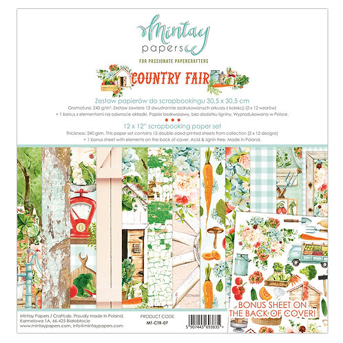 Country Fair 12 x 12 Paper Collection by Mintay Papers