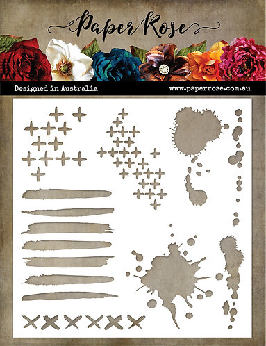 Paper Rose Arty Love Mark Maker 1 Stencil