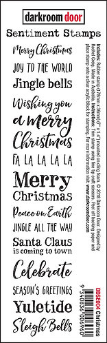 Darkroom Door Sentiment Stamp - Christmas