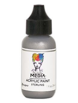 Dina Wakley® Media Acrylic Paint 1oz - Sterling