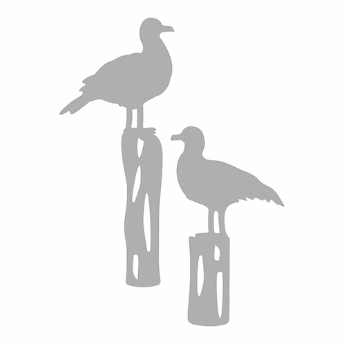 Couture Creations® Seaside Girl - Seagulls Mini Die Set (2pc)