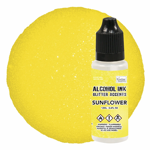 Couture Creations Alcohol Ink Glitter Accents - Sunflower