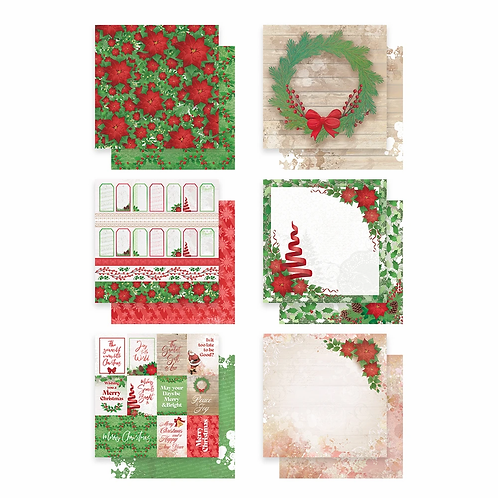 Paper Pack - Merry Little Christmas - 12 sheets 6 designs