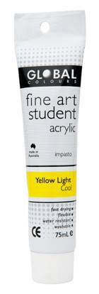 Global fine art student acrylic 75ml - Cool Yellow