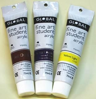 Global fine art student acrylic 75ml - Burnt Sienna