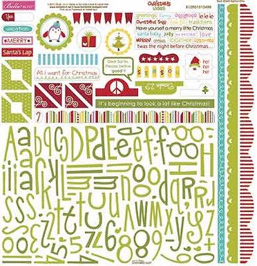 Bella Blvd® Christmas Wishes - Alpha & Bits Stickers 12 x 12