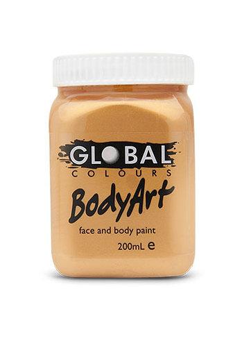 Global Body Art Paint - Metallic Gold - 200ml