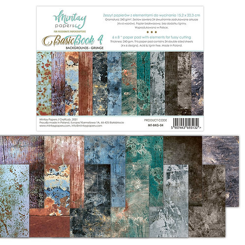 Basic Backgrounds Book by Mintay Papers® - Grunge - 6 x 8