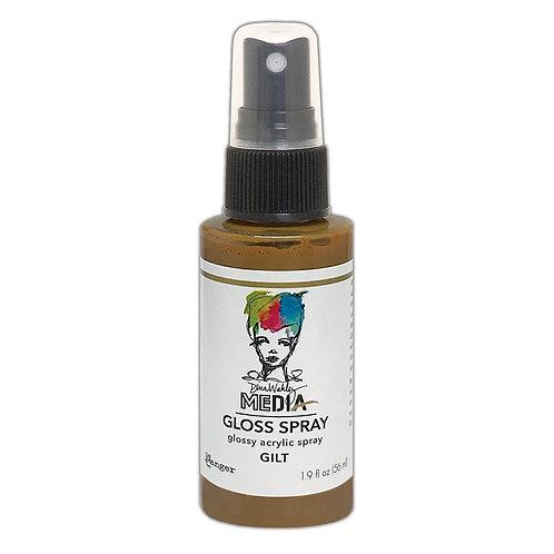 Dina Wakley Media Gloss Spray -Gilt