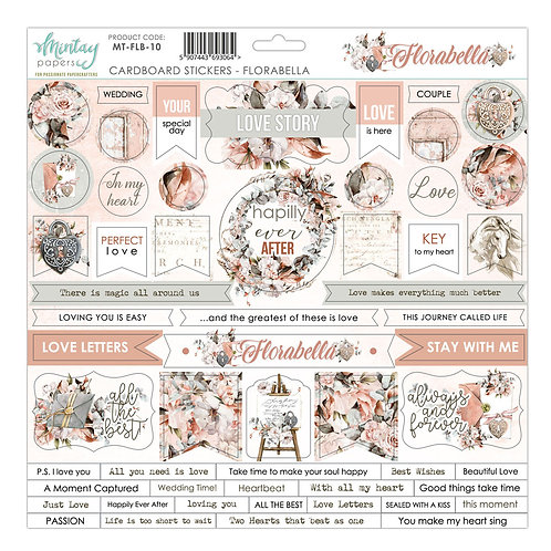 Florabella 12 x 12 Chipboard Sticker Sheet by Mintay Papers